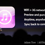 iTunes Music Store, now available through 3G networks.