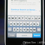 A new Spotlight feature enables search across the device.