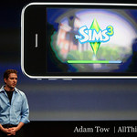 EA's Travis Boatman takes the stage to talk about Sims for iPhone.