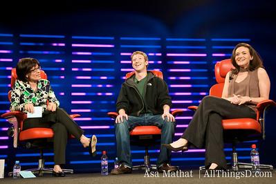 Mark Zuckerberg and Sheryl Sandberg at D6