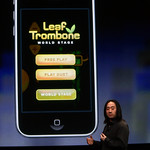 """Smule's used the new iPhone SDK to create what it says is """"the first massively online social music gaming experience."""" It's called Leaf Trombone World Stage."""
