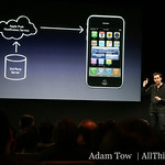 Scott Forstall, Senior Vice President of iPhone Software and Platform Experience, explains the push notification system in iPhone 3.0.
