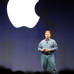 Phil Schiller takes the stage for the MacWorld 2009 keynote.