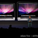 "Phil in front of the MacBook and the 15"" MacBook Pro"