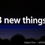 Phil will be talking about three new things today at MacWorld 2009.